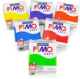 FIMO Soft Polymer Oven Modelling Clay - 57g - Set of 6 - Tropical Colours