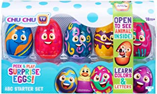 Chu Chu TV Surprise Eggs 75802 Peek & Play Surprise Eggs by ChuChu TV: ABC Starter Set Learning Toy