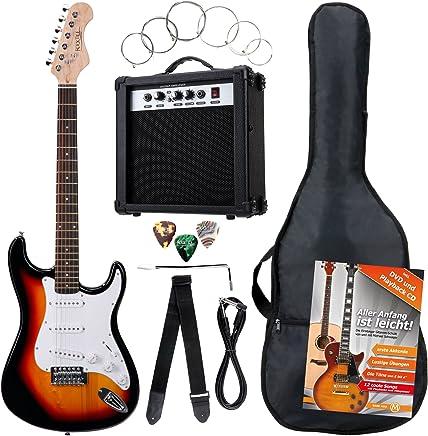 Disponible para descargar ya. Rocktile Banger - Pack de 7 piezas, guitarra eléctrica, sunburst
