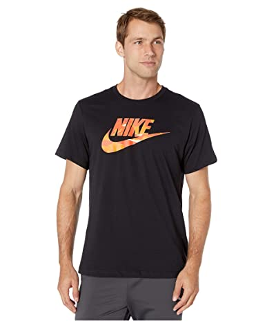 Nike NSW Camo 1 Tee (Black/Team Orange) Men