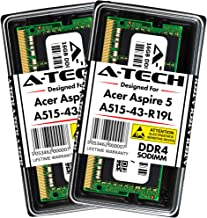 A-Tech 32GB Kit (2 x 16GB) Max Memory RAM for Acer Aspire 5 (A515-43-R19L) Slim Laptop - DDR4 2666MHz PC4-21300 1.2V SODIMM Upgrade Modules