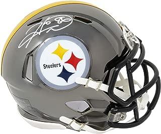 Hines Ward Signed Pittsburgh Steelers Chrome Riddell Speed Mini Helmet