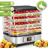Food Dehydrator Machine, Digital... Food Dehydrator Machine, Digital Timer and Temperature Control, 8 Trays - For Beef Jerky...