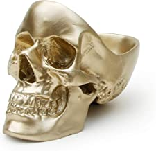 Suck UK Skull Tidy, Jewellry Box Accessories Container in Gold-Perfect for Storing Keys, Jewellery, Stationary, Spare Coin...