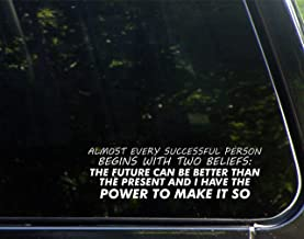 Almost Every Successful Person Begins With Two Beliefs, The Future Can Be And I Have The Power - 8-3/4