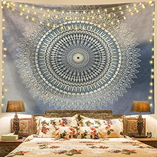 Popular Indian Handicrafts Tapestries Hippie Bohemian Blue Mandala Tapestry Wall Hanging Bedding Living Room Dorm Decor