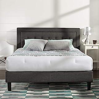 Zinus Dachelle Upholstered Platform Bed Frame / Mattress Foundation / Wood Slat Support / No Box Spring Needed / Easy Asse...