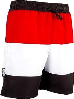 HAHALE Magica Cambia Colore Beach Shorts Estate Uomini Chubbiesbig Calzoncini da Bagno Costume da Bagno Costume da Bagno Quick Dry Bathing Temperatura Pantaloncini Giallo