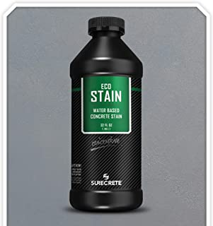 Surecrete EcoStain Water-Based Concrete Stain - 32 Ounce Concentrate (Pewter)