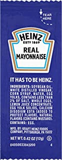 Heinz Real Mayonnaise Single Serve Packet (0.4 oz Packets, Pack of 200)