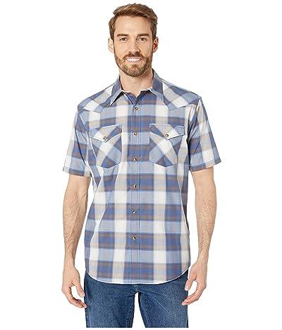 Pendleton Short Sleeve Frontier Shirt (Blue Indigo Plaid) Men