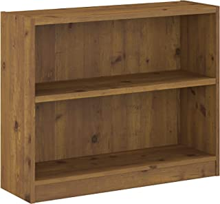 Bush Furniture Universal 2 Shelf Bookcase, Vintage Golden Pine