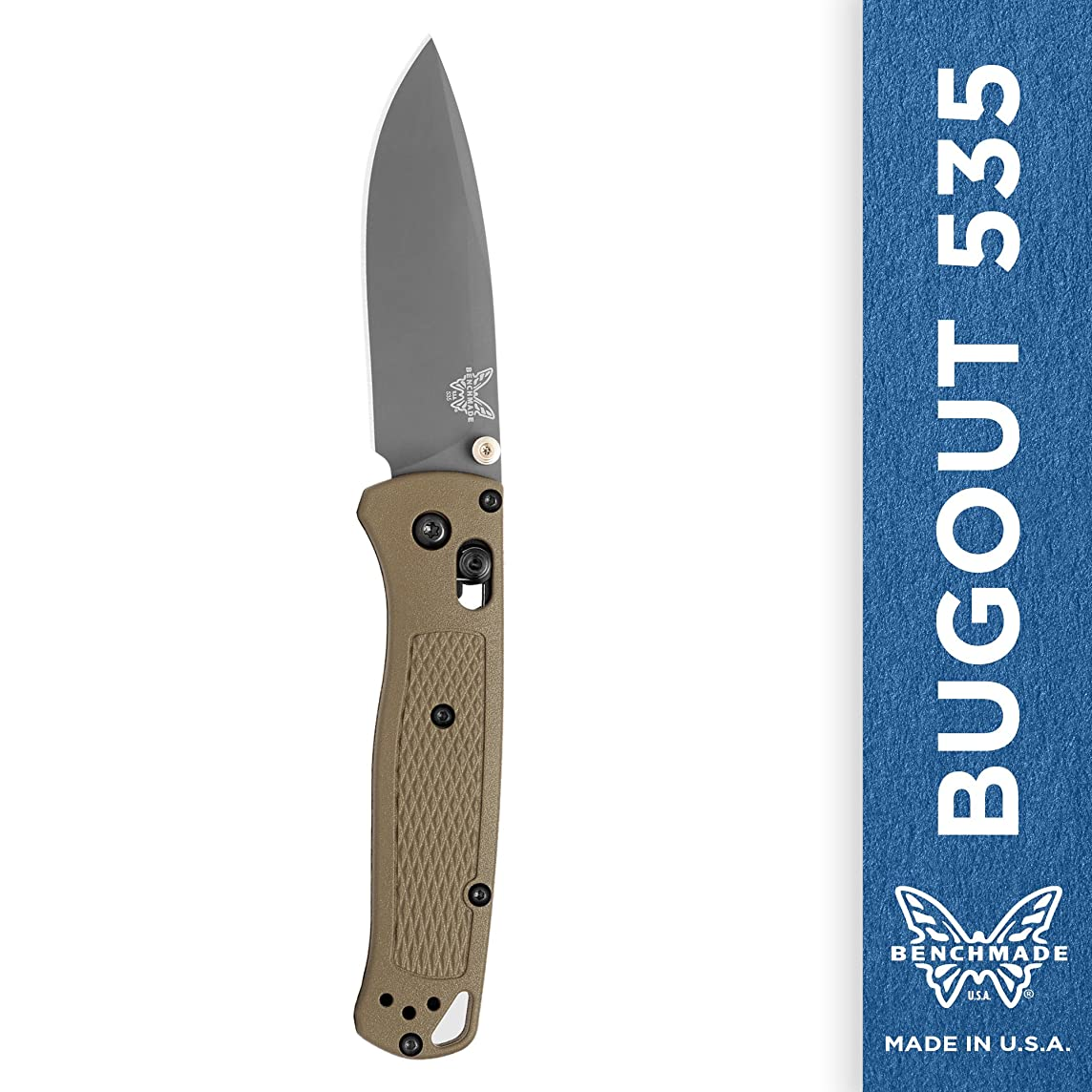 Benchmade - Bugout 535 EDC Manual Open Folding Knife Made in USA