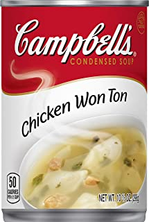 Campbell'sCondensed Chicken Wonton Soup, 10.5 oz. Can (Pack of 12)