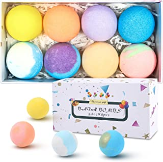 SIX FOXES Natural Bath Bombs Gift Set, Handmade Organic Bubble Bath Bomb, Rich in Essential Oil, Epsom Salt...