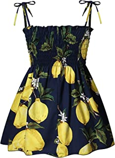 Symunnia Toddler Baby Girl Dresses Sleeveless Spaghetti Straps Floral Princess Sundress Summer Clothes Outfits