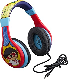 Ryans World Kids Headphones for Kids Adjustable Stereo Tangle-Free 3.5mm Jack Wired Cord Over Ear Headset for Children Parental Volume Control Kid Friendly Safe for School Home Packaging