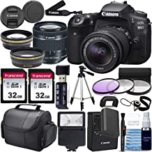 $1199 » Canon EOS 90D DSLR Camera and Canon EF-S 18-55mm f/3.5-5.6 is STM Lens & Professional Accessory Bundle W/ 2X 32GB Memory Cards + Case & Wide Angle & Telephoto Lens + More!