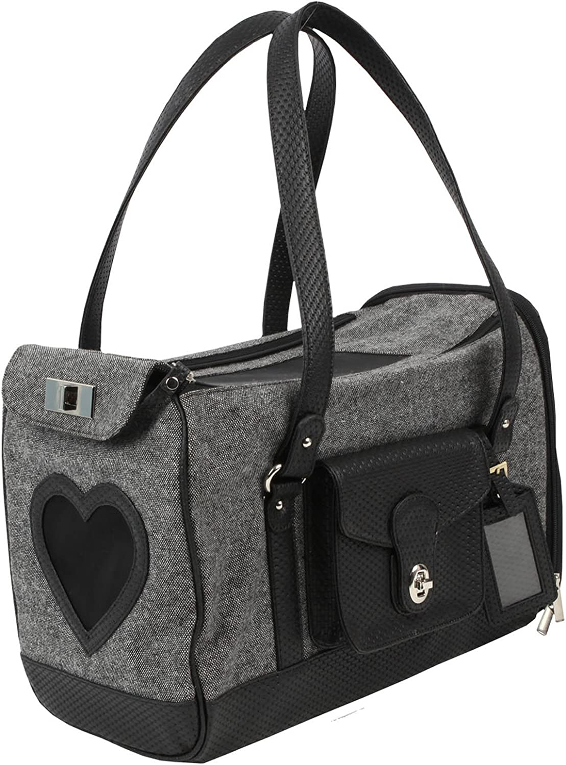 Puppia Authentic Grand Pet Carrier, One Size, Black