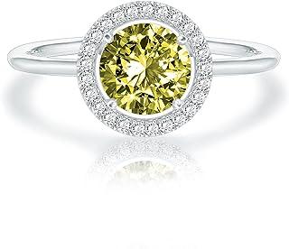 14K Gold Plated SWAROVSKI Crystal Birthstone Ring - ADJUSTABLE Stackable Ring