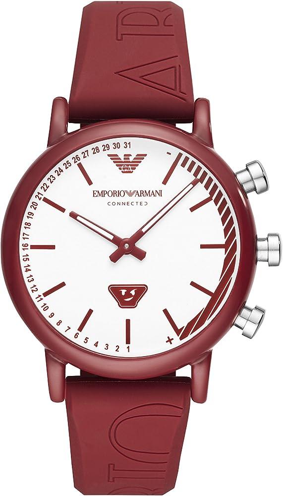Emporio armani, orologio smartwatch unisex , con cinturino in silicone ART3024