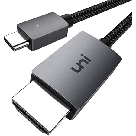USB C to HDMI Cable 4K, uni USB Type C to HDMI Cable(Thunderbolt 3 Compatible) for Home Office, Compatible with iPad Pro 2020, MacBook Pro, Samsung S20, Huawei Mate40, XPS and More - 6ft/1.8m