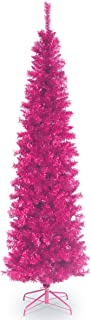 National Tree Company Artificial Christmas Tree | Includes Stand | Pink Tinsel - 6 ft