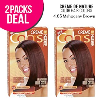 Creme Of Nature Color Hair Colors (2 PACK, 4.65-Mahogany Brown)