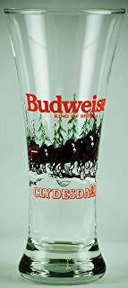 1992 - Anheuser-Busch Inc - Official Product - Budweiser : King of Beers - Clydesdales Winter Scene - 10 Ounce Beer Glass - OOP - Rare - Collectible