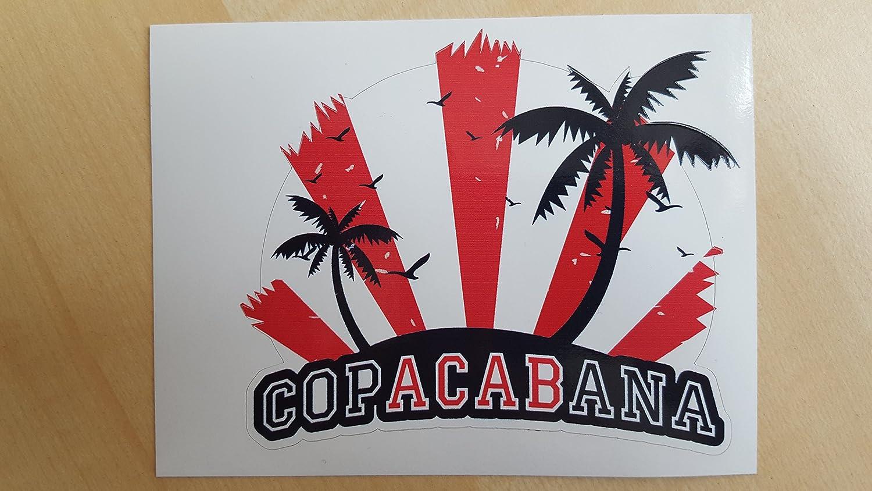 Copacabana Auto Aufkleber Sticker Oldschool Germany Acab Rot Weiß Auto