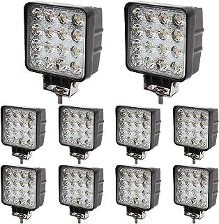 BRIGHTUM 10 x 48W LED offroad werklamp 4560 lumen wit 12V 24V schijnwerper reflector werklicht schijnwerper SUV UTV ATV we...