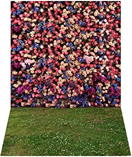 Andoer 1.5 * 2.1m/5 * 7ft Photography Background Garden Flower Grass Backdrop Photo Studio Props