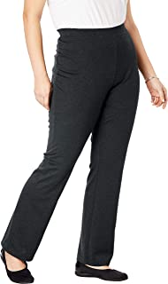 Women's Plus Size Petite Bootcut Ponte Stretch Knit Pant