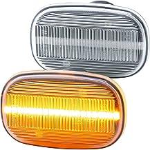 rm-style 7732 - Intermitente Lateral LED Compatible con MR2 II, Paseo Coupe, Prius, Cristal Transparente