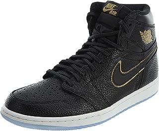 Nike Air 1 Retro High OG Men's Basketball Shoes 555088 031 Black Metallic Gold (11)
