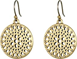 Two-Tone Openwork Drop Earrings