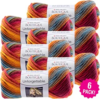 Red Heart 99495 Boutique Unforgettable Yarn 6/Pk-Sunrise, Pack
