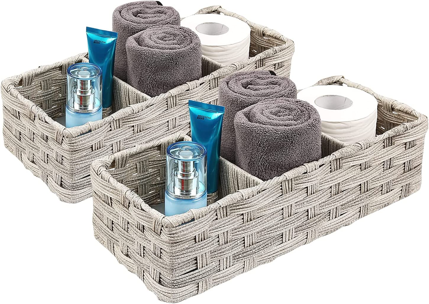 Safety and trust Toilet Challenge the lowest price of Japan Paper Basket 3 Section Storage Compartments