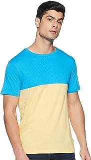 Amazon Brand - Symbol Men's Solid Regular Fit Half Sleeve Cotton T-Shirt