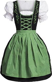 4a735585e41496 Bongossi-Trade Dirndl 3 TLG.Trachtenkleid Kleid, Bluse, Schürze, Gr.