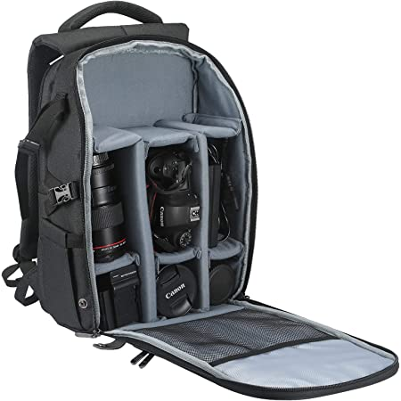 Camera Backpack Camera Case with 15 Inch Laptop Compartment Large Capacity Waterproof Camera Bag IPad Compartment for Women Men Photographer Lens Tripod.