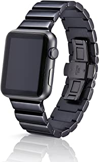 42/44mm JUUK Obsidian Ligero Premium Watch Band Made for The Apple Watch, Using Aircraft Grade, Hard Anodized 6000 Series Aluminum with a Solid Stainless Steel Butterfly deployant Buckle (Polished)