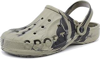 Dynamic Zapatos de jardín para hombre, muy ligeros, para estar por casa, zuecos, chanclas de baño, de goma