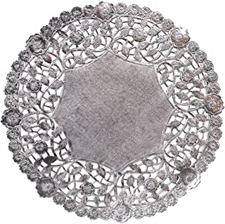 Hygloss Products 8 Inch Silver Foil Doilies - Round Doilies Made in the USA, 72 Pack