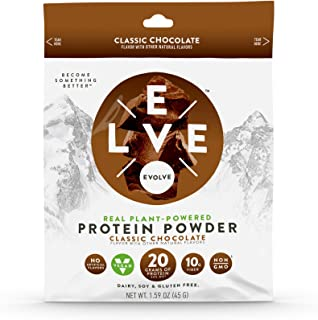Evolve Protein Powder Packet, Classic Chocolate, 20g Protein, 5Count