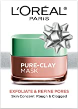L'Oréal Paris Skincare Pure-Clay Face Mask with Red Algae for Clogged Pores to Exfoliate And Refine Pores, Holiday Gift, 1.7 oz.