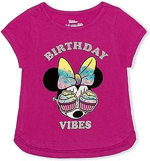 Disney Girl's Minnie Mouse Birthday Vibes Blouse Tee Shirt
