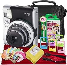 Fujifilm INSTAX Mini 90 Neo Classic Instant Camera (Black) + Fujifilm Instax Mini Instant Film (20 Shots) + Camera Case & Accessory Bundle