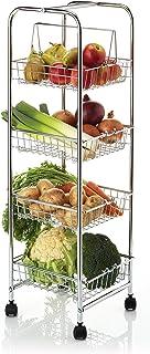 Kitchen Craft Storage Trolley Carrito de Cuatro Niveles para