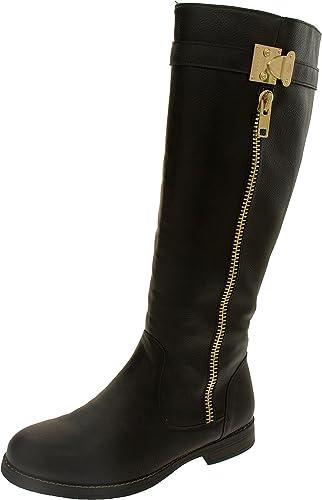 Footwear Studio Keddo damen Cuero de Imitación Detalle de Cremallera Stiefel